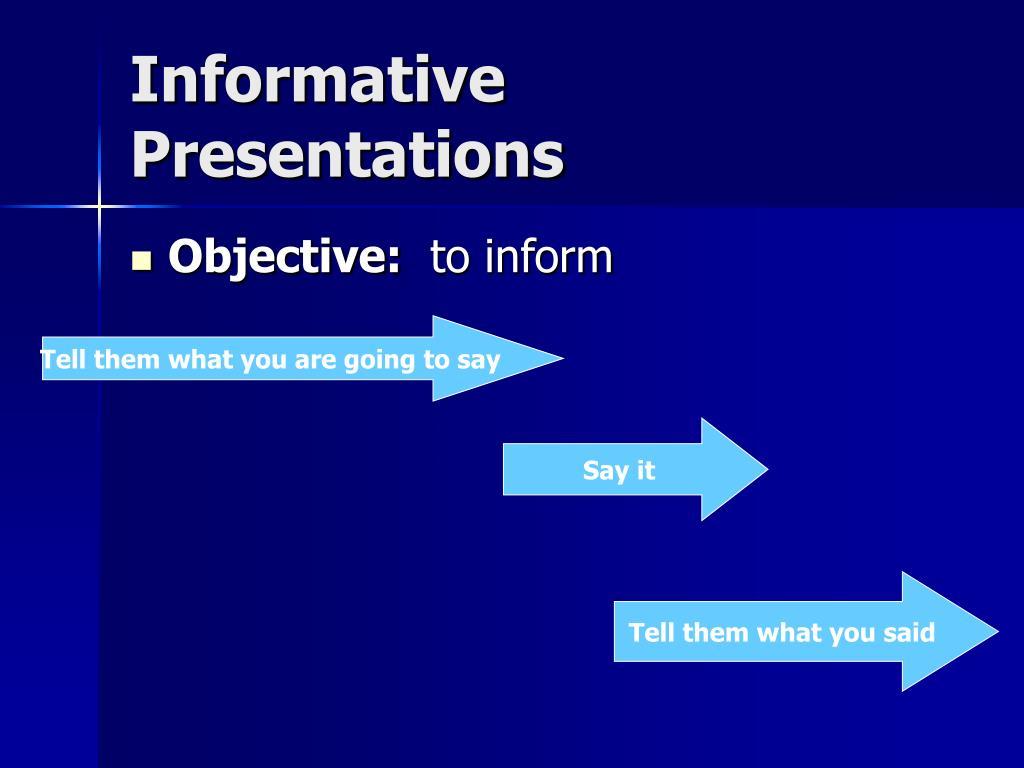 Informative Presentations