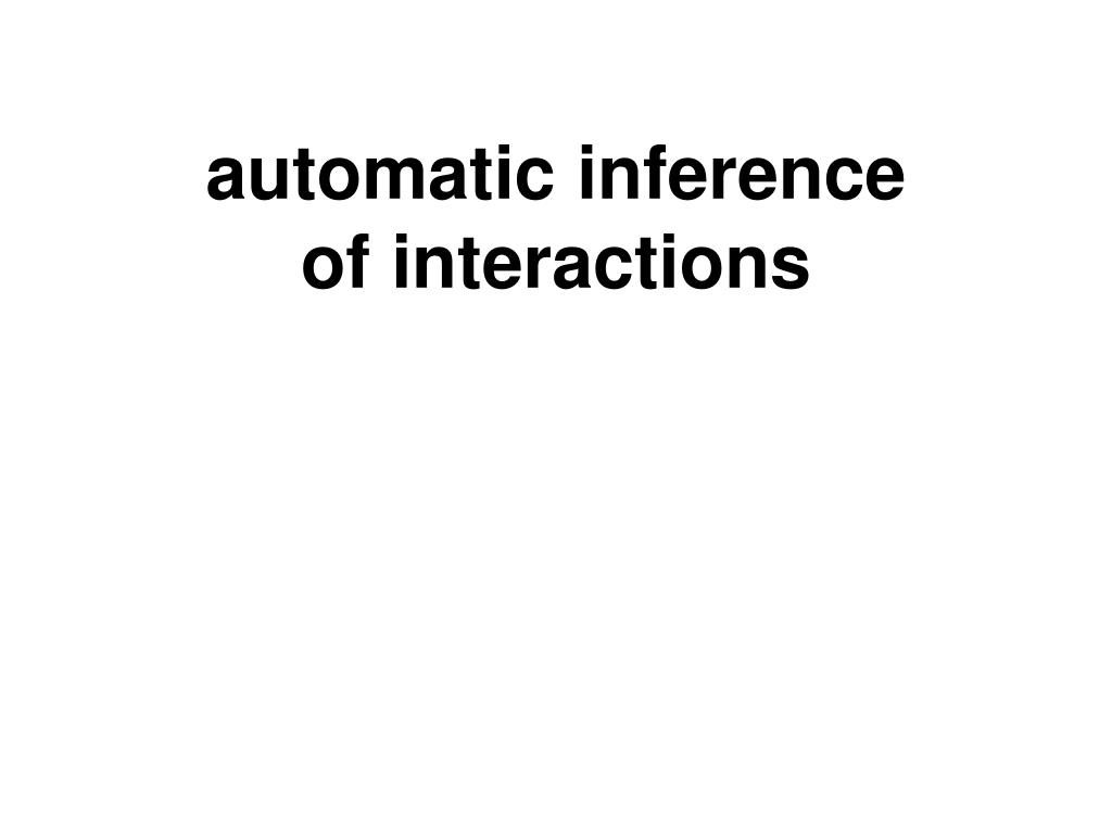 automatic inference