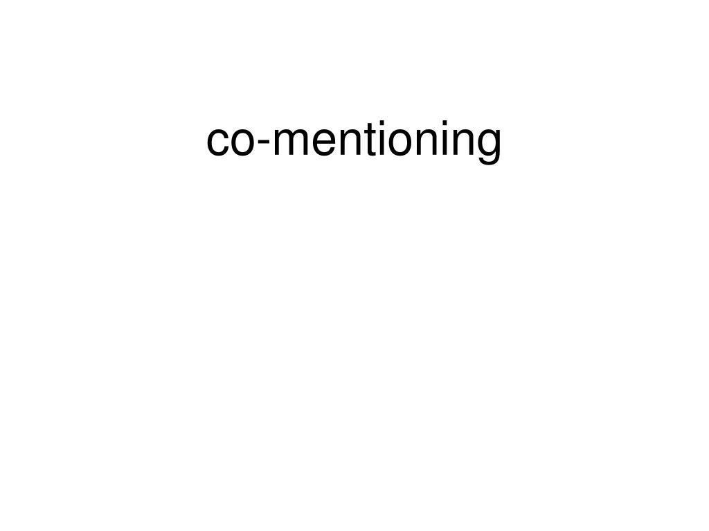 co-mentioning