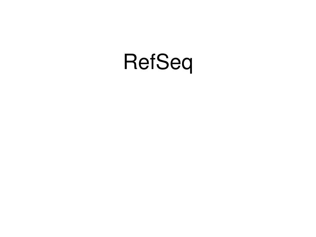 RefSeq