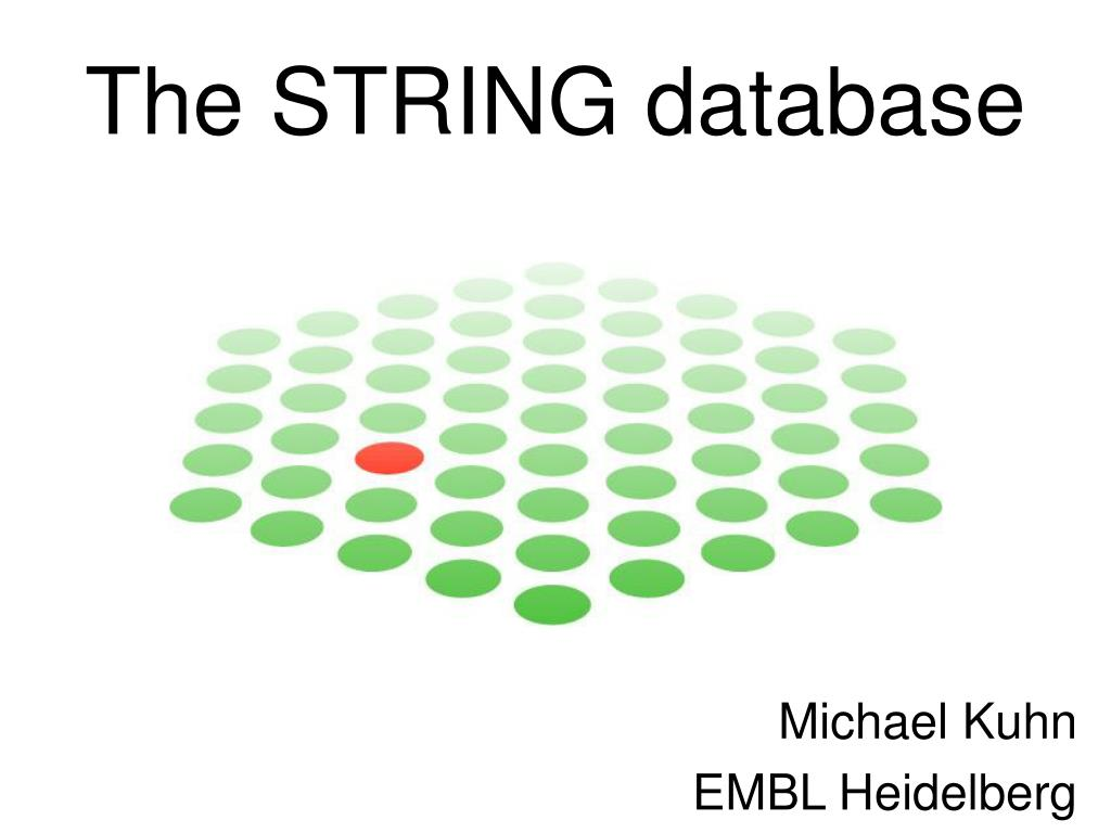 The STRING database