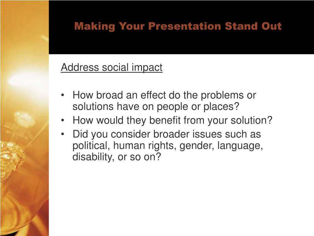 Making Your Presentation Stand Out