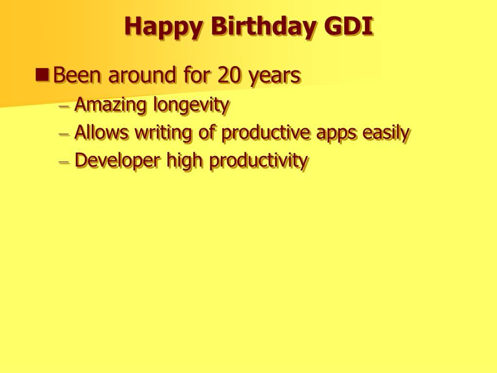 Happy Birthday GDI