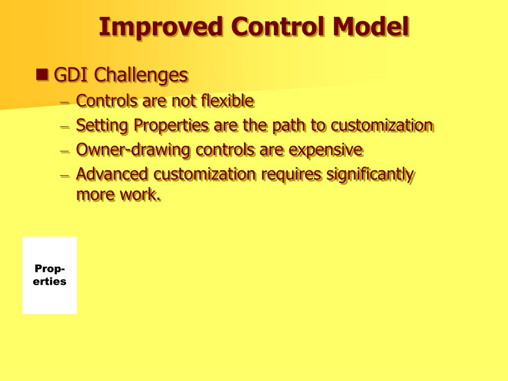 Improved Control Model