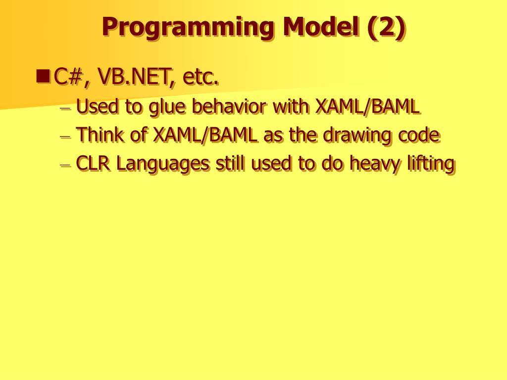 Programming Model (2)