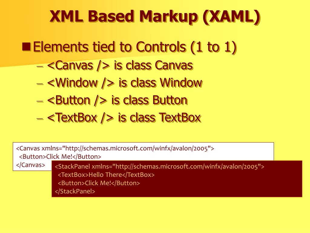 XML Based Markup (XAML)