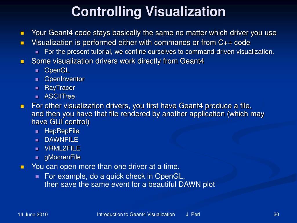 Controlling Visualization