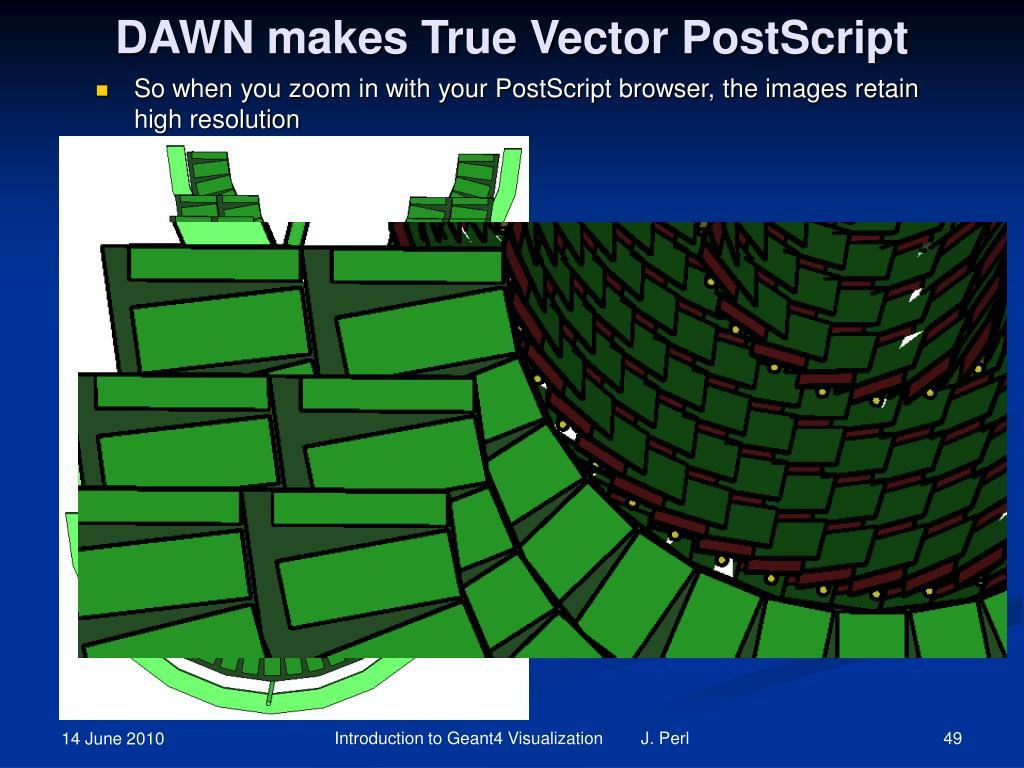DAWN makes True Vector PostScript