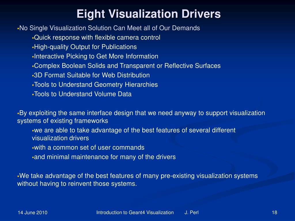Eight Visualization Drivers