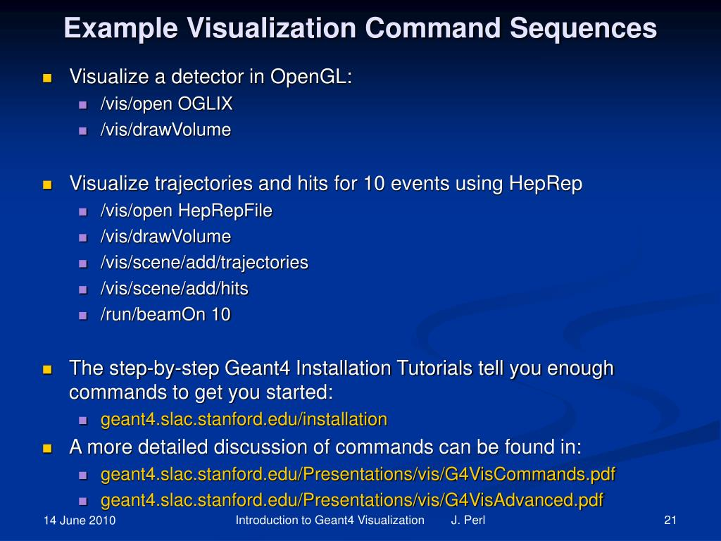 Example Visualization Command Sequences