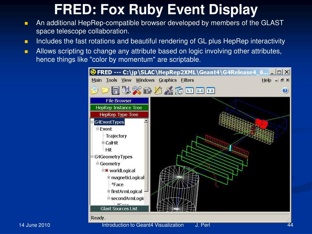 FRED: Fox Ruby Event Display