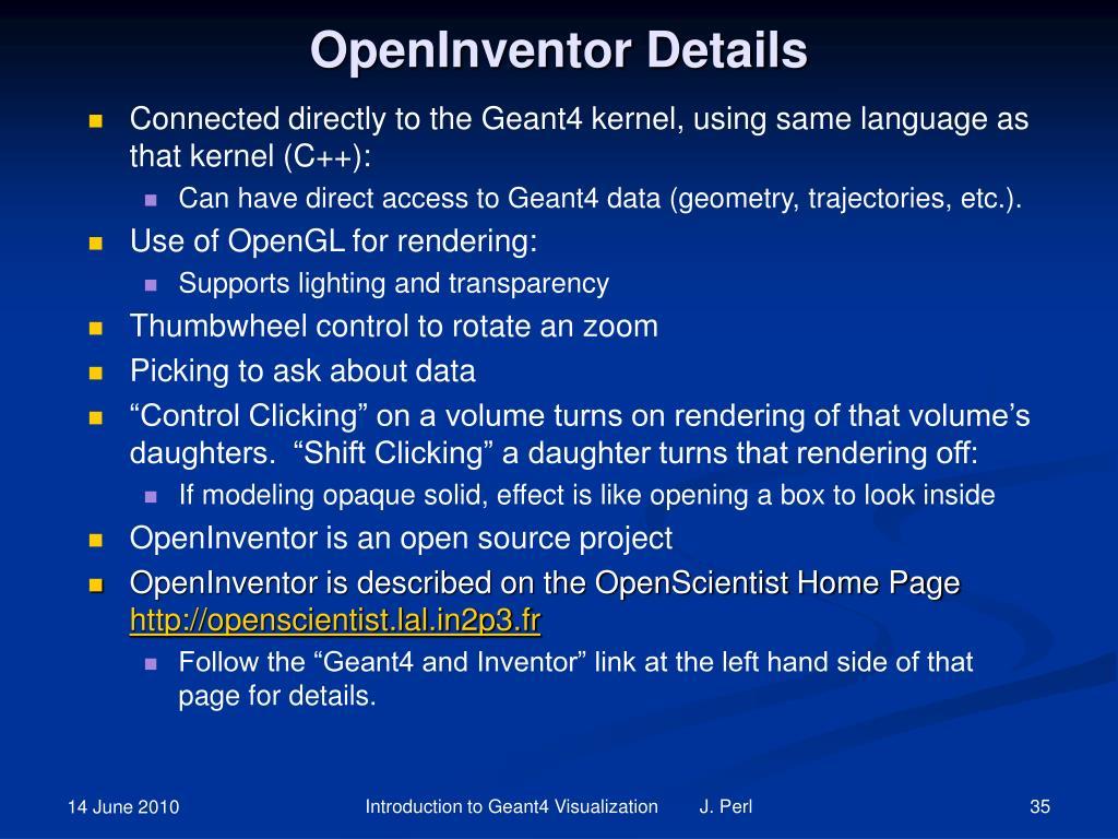 OpenInventor Details