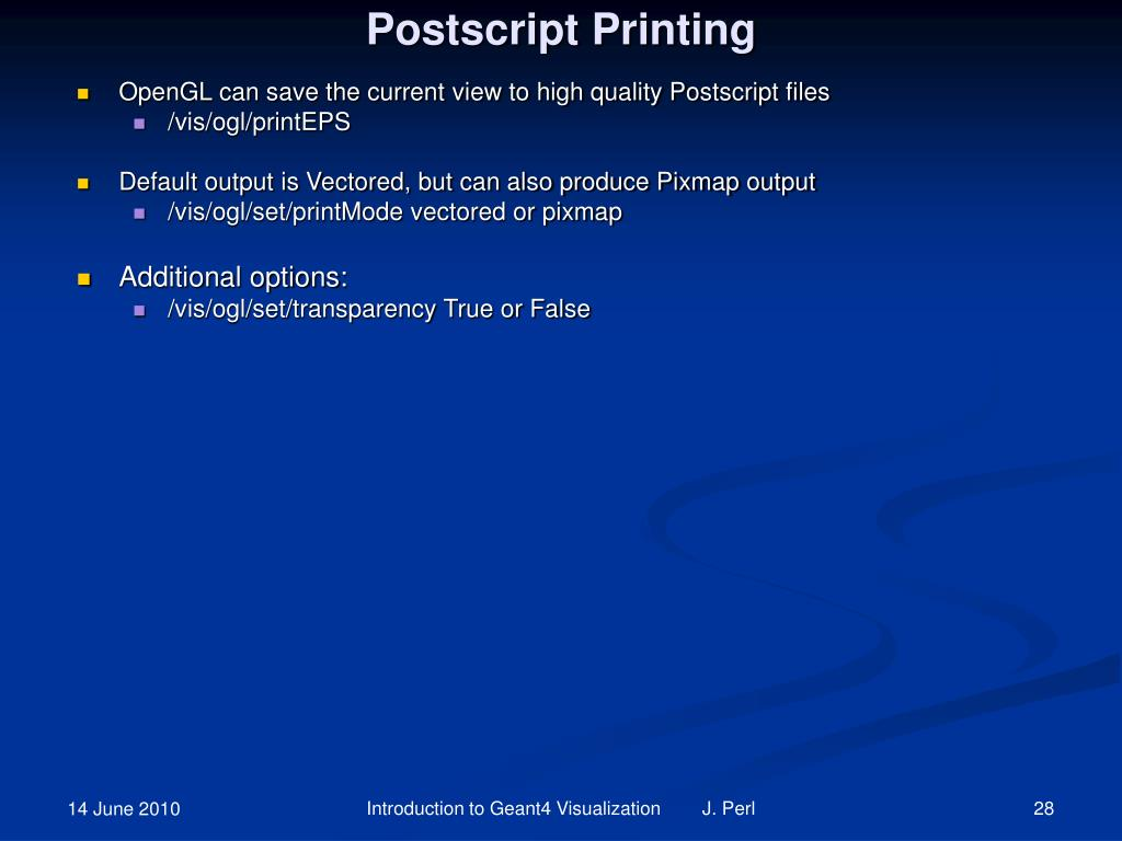Postscript Printing