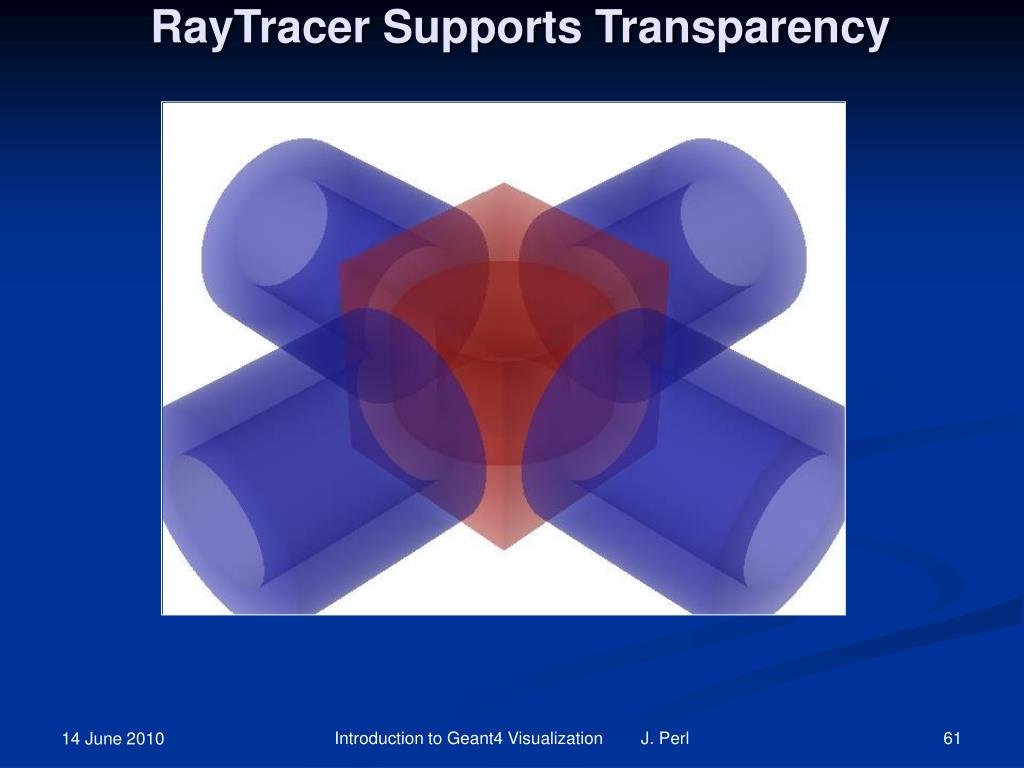RayTracer Supports Transparency
