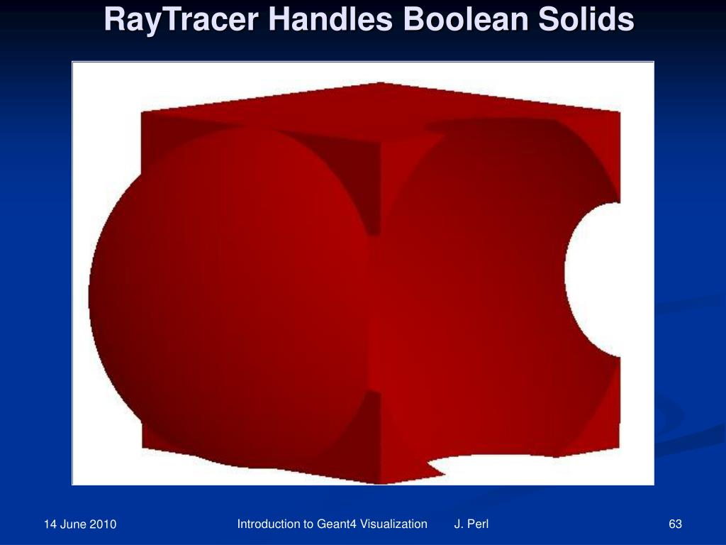 RayTracer Handles Boolean Solids