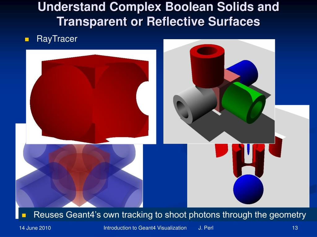 Understand Complex Boolean Solids and Transparent or Reflective Surfaces