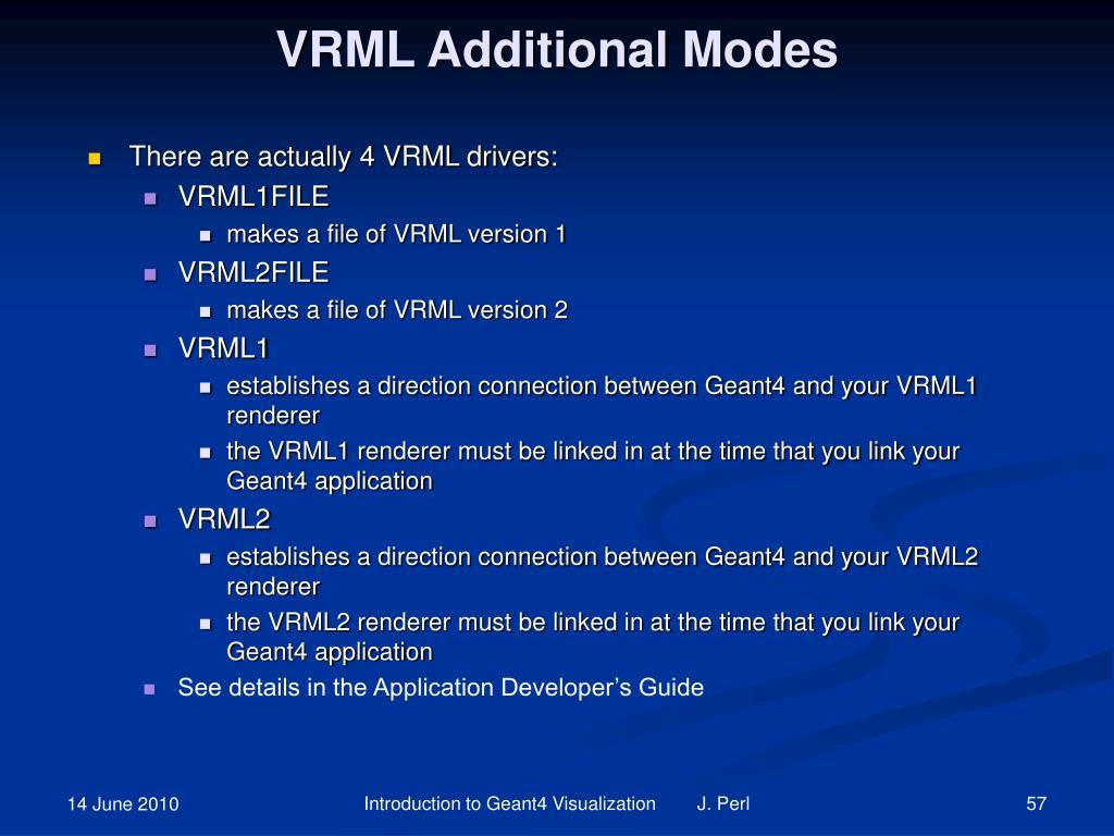 VRML Additional Modes