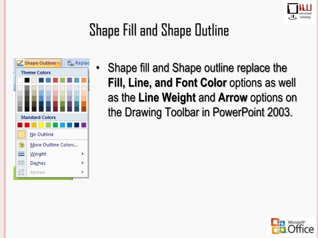 Shape Fill and Shape Outline