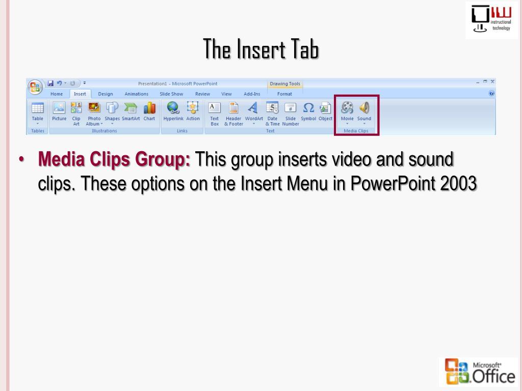 The Insert Tab