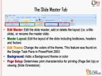 the slide master tab