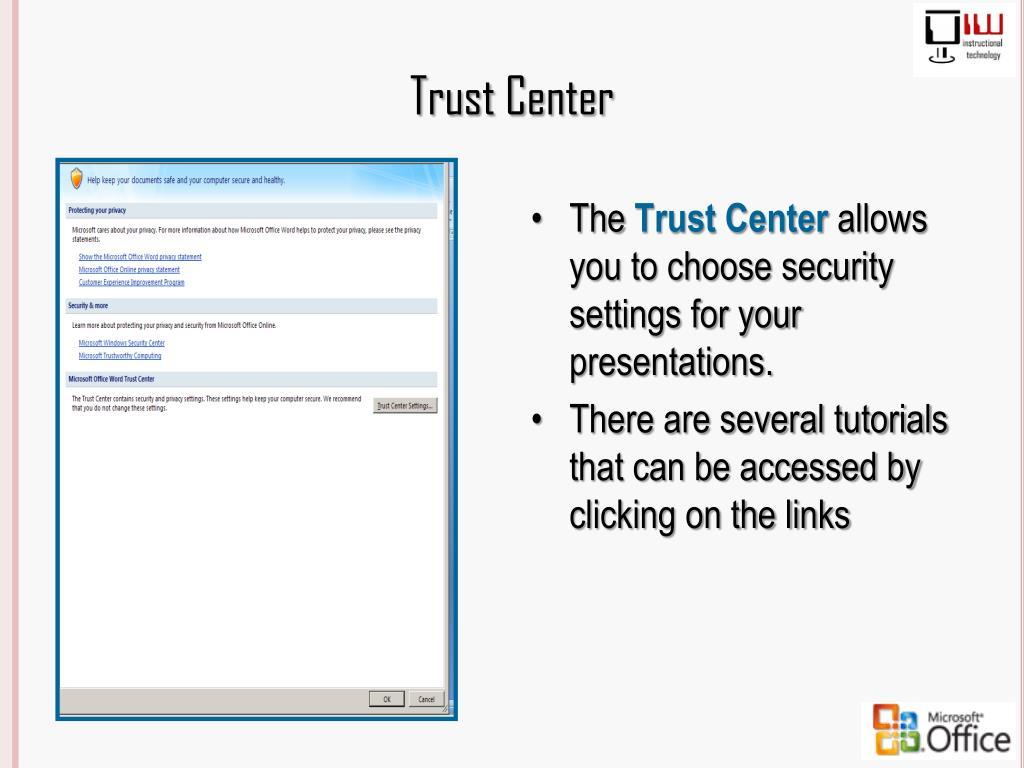 Trust Center