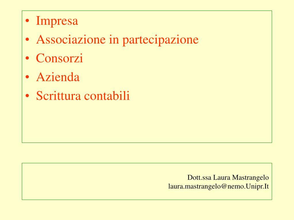 Dott.ssa Laura Mastrangelo