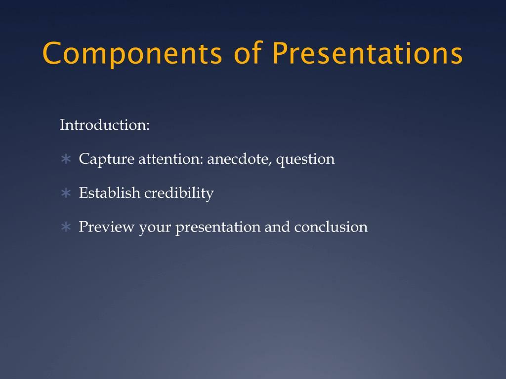 Components of Presentations