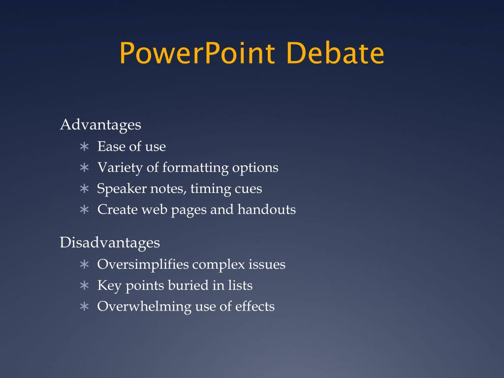 PowerPoint Debate