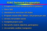 icao technical co operation