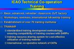 icao technical co operation training