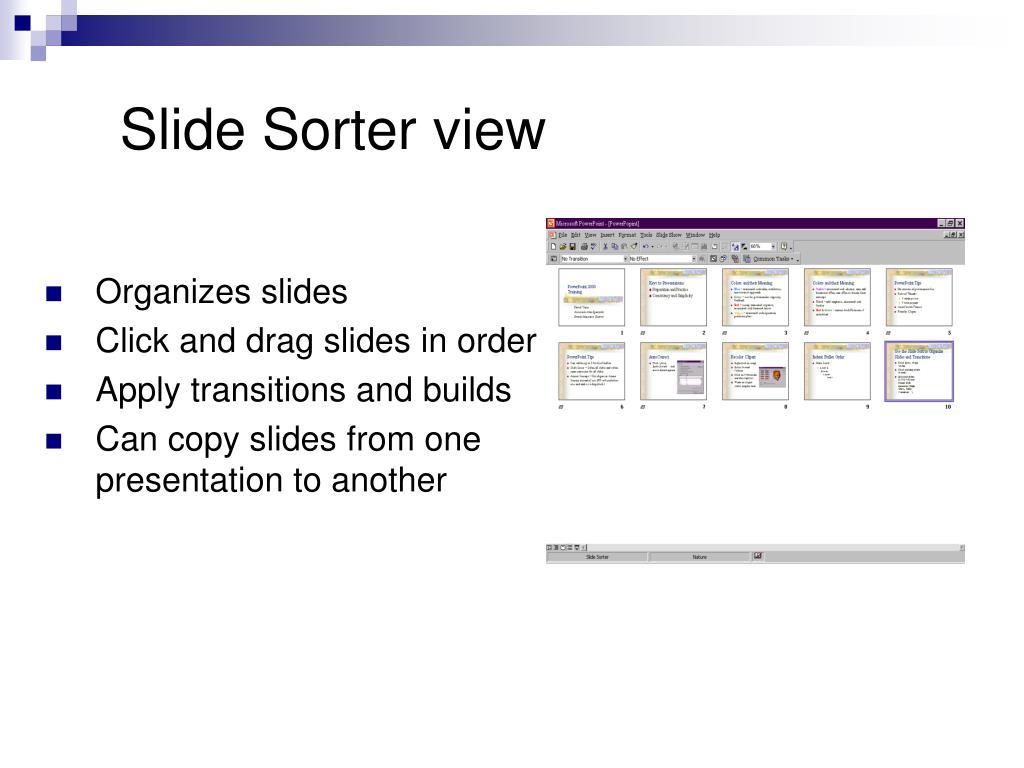 Slide Sorter view