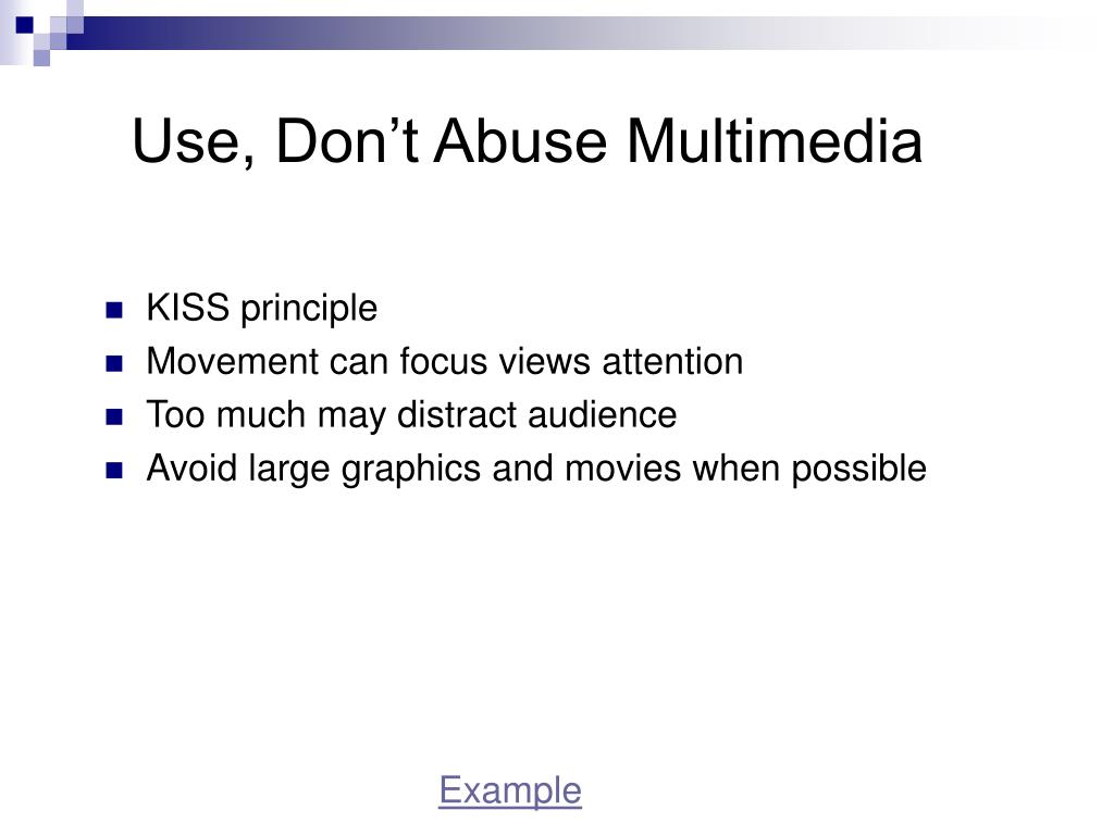 Use, Don't Abuse Multimedia
