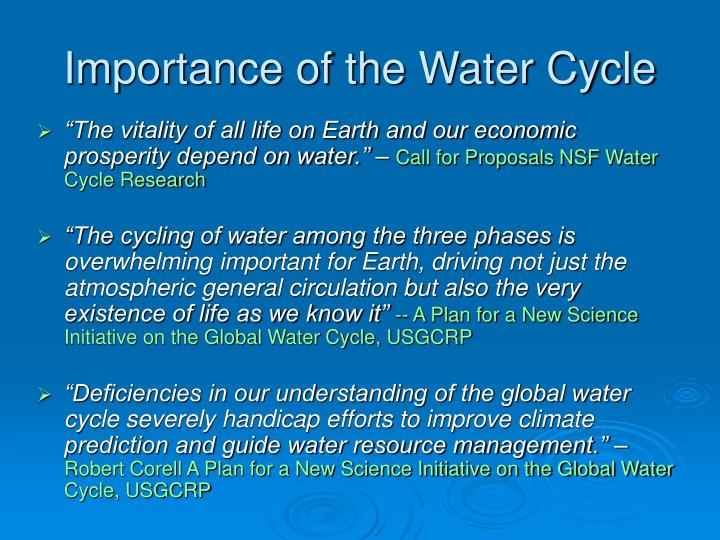 an analysis of the importance of water to life on earth Importance of phytoplankton  the bacteria that decompose the phytoplankton deplete the oxygen in the water, suffocating animal life  the earth observatory is.