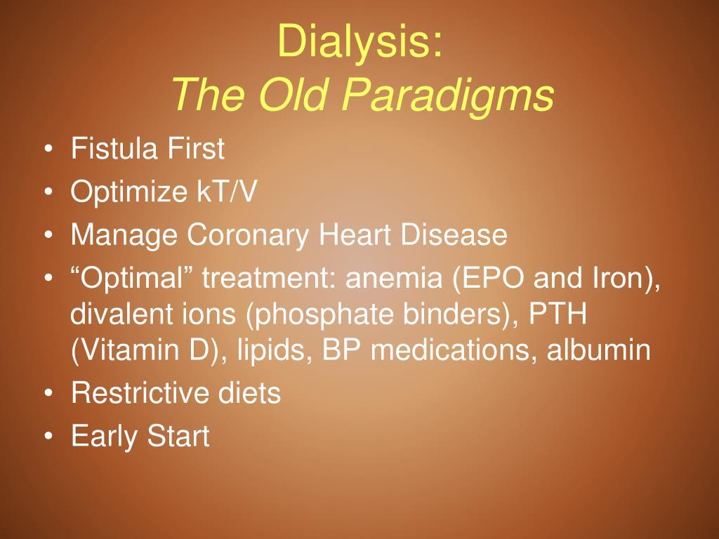 Dialysis: