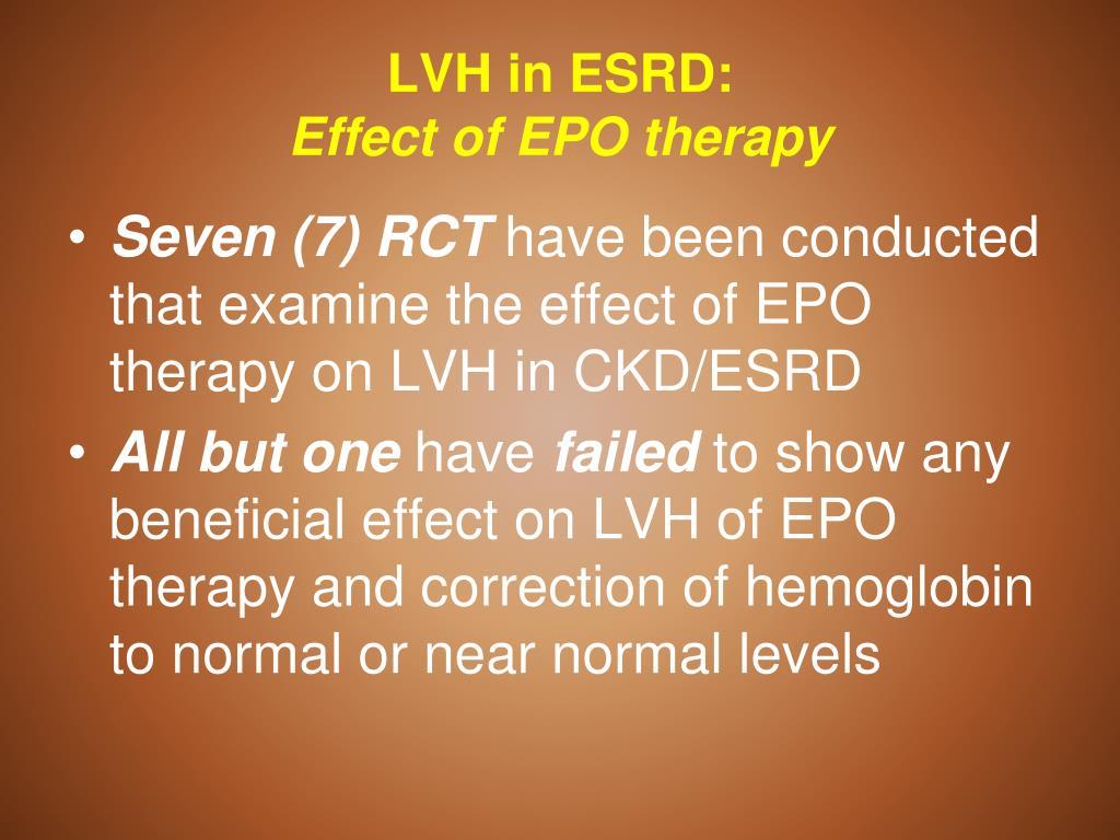 LVH in ESRD: