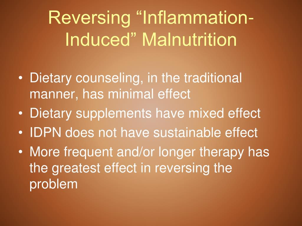 "Reversing ""Inflammation-Induced"" Malnutrition"