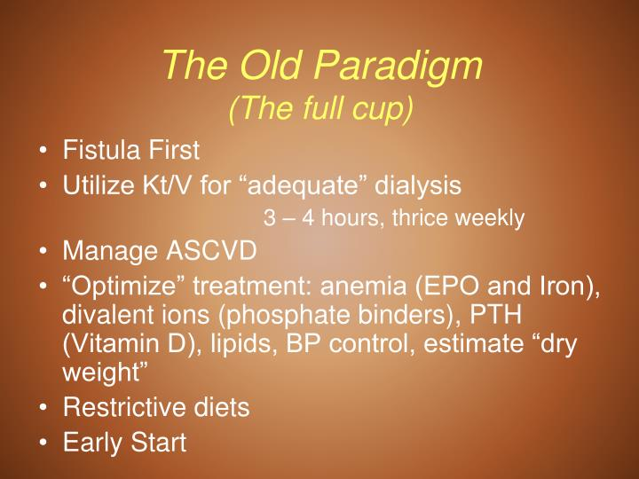 The old paradigm the full cup
