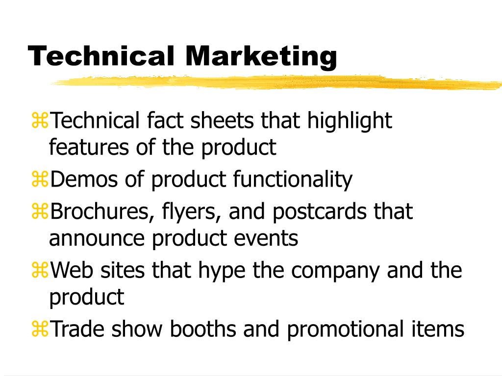 Technical Marketing