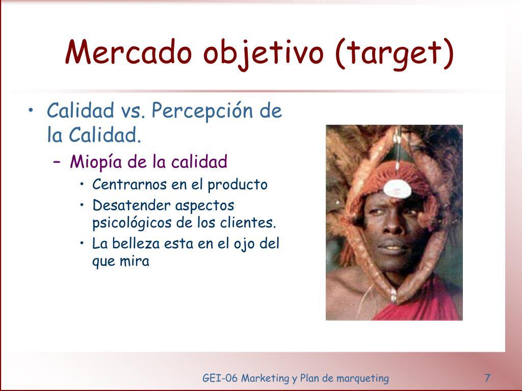 Mercado objetivo (target)