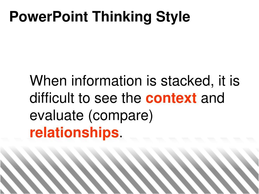 PowerPoint Thinking Style