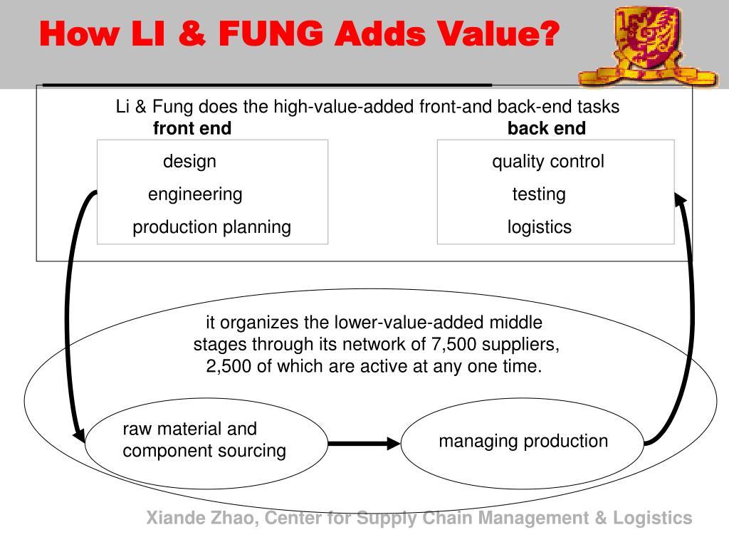 How LI & FUNG Adds Value?