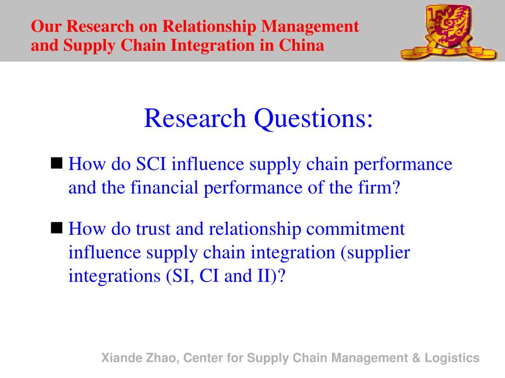 Our Research on Relationship Management