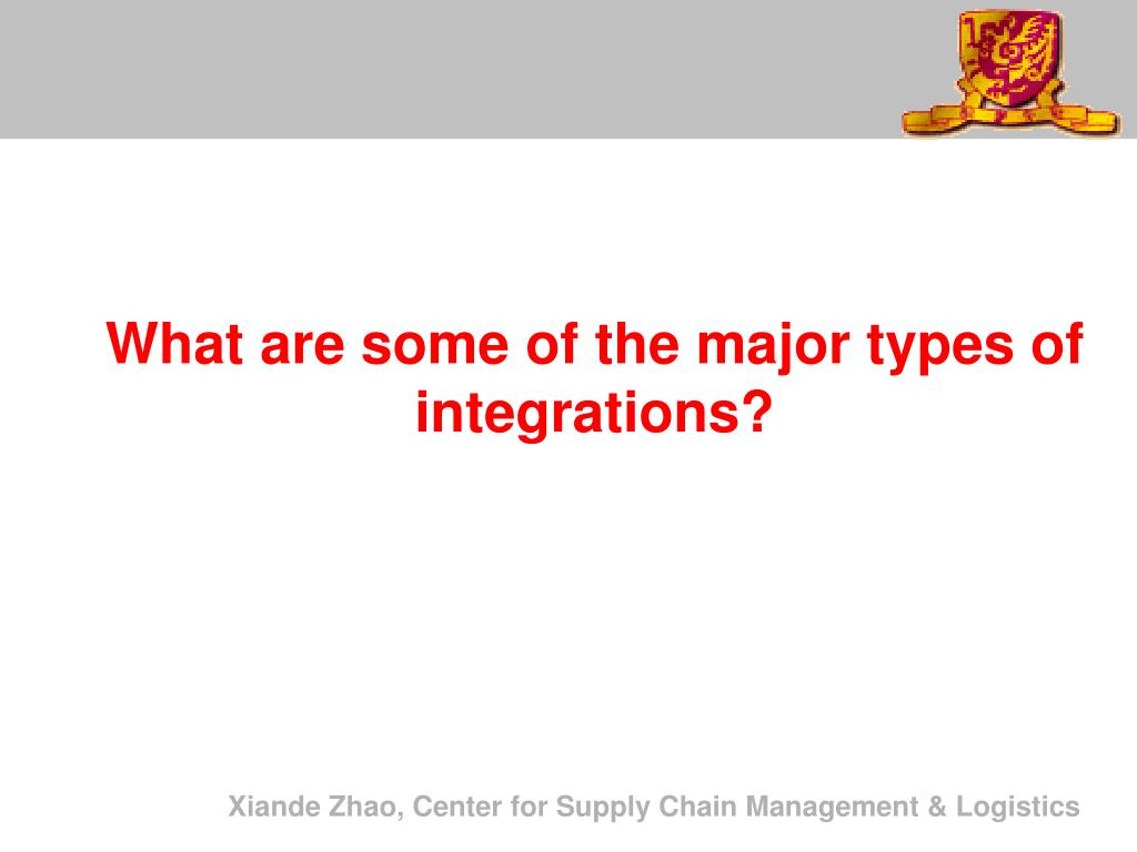 What are some of the major types of integrations?