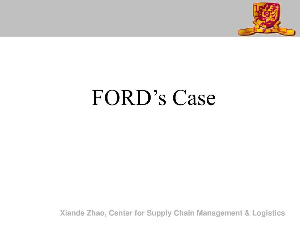 FORD's Case