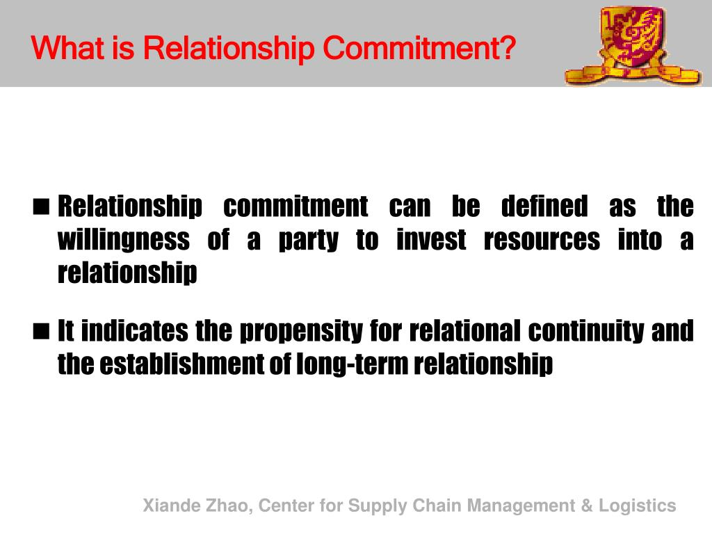 What is Relationship Commitment?