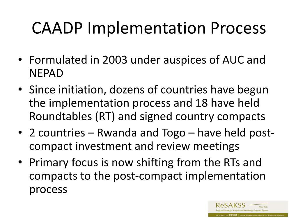 CAADP Implementation Process