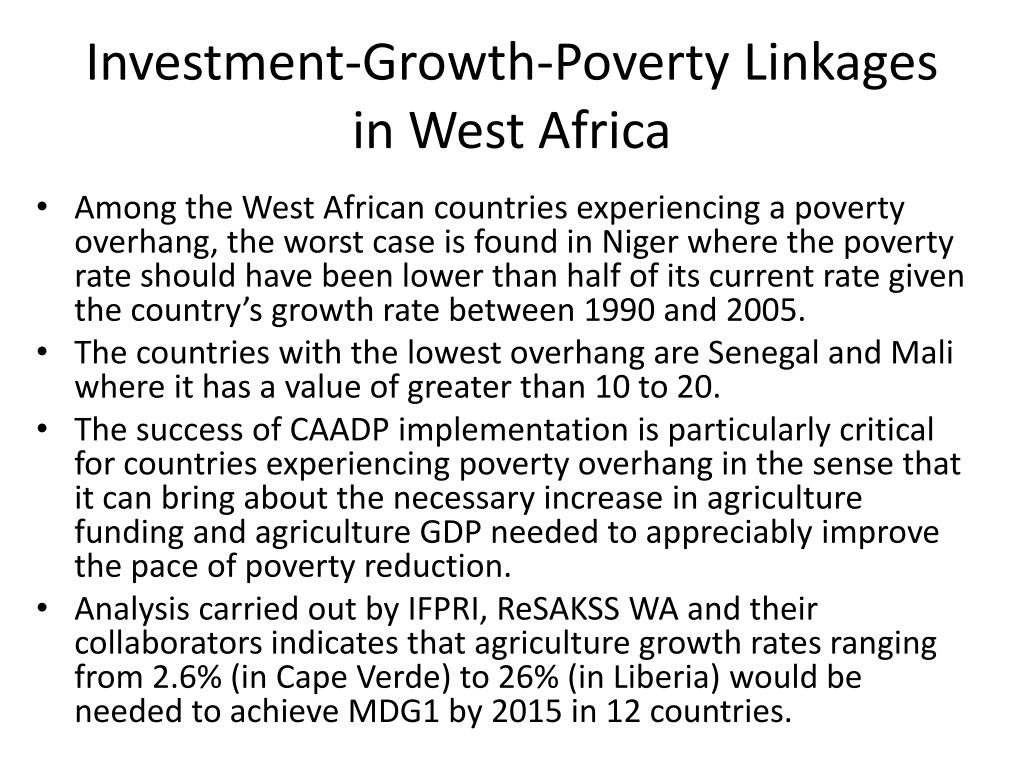 Investment-Growth-Poverty Linkages in West Africa