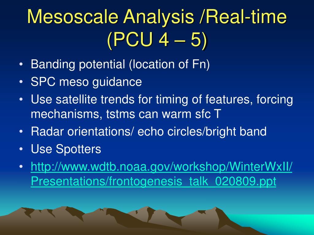 Mesoscale Analysis /Real-time