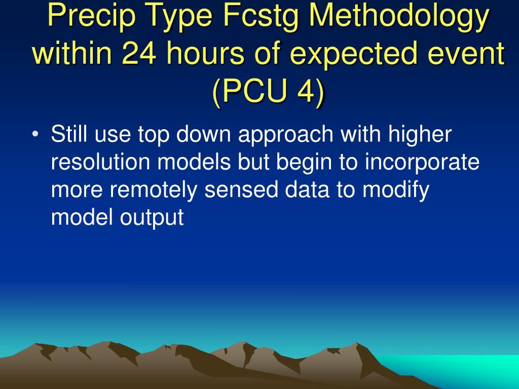 Precip Type Fcstg Methodology