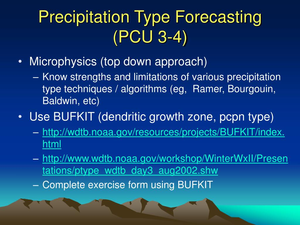 Precipitation Type Forecasting